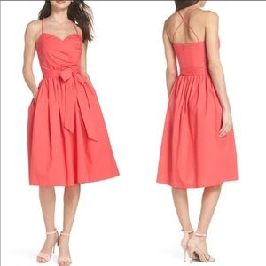 1901 Pink Paradise Strappy Fit & Flare Midi Dress4